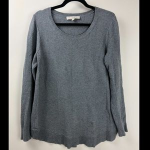 Ann Taylor LOFT Lightweight Textured Gray Sweater